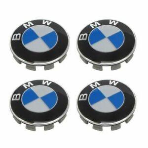 4X-68mm-Cache-Moyeu-Jante-centre-de-roue-Logo-insigne-badge-enjoliveur-pour-BMW