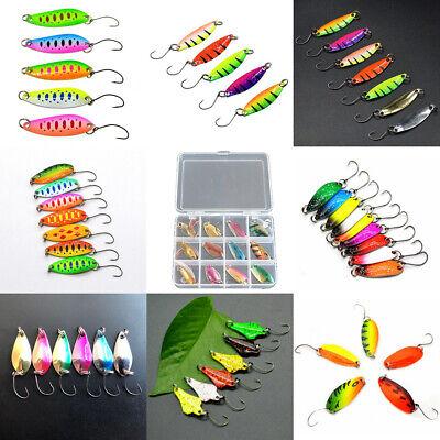 6x Forellenköder Trout Spoon Blinker Haken 6 Farben Profi Troutspoon Fishing 3g