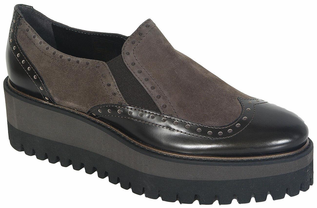 rotuzierung Luca Grossi 4717m Dark Met Camoscio Torba loafers