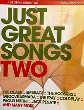 Just Great Songs Two (2) Piano Sheet Music Book PVG Guitar 31 Great Songs