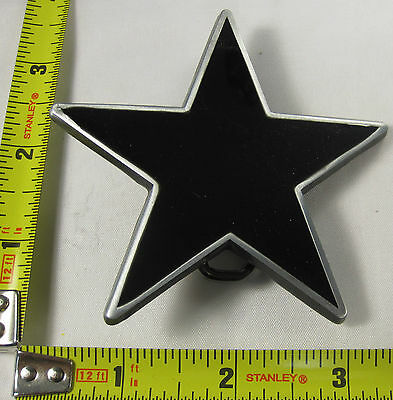 STAR BELT BUCKLE BLACK PENTAGRAM FREE S/H NEW B116