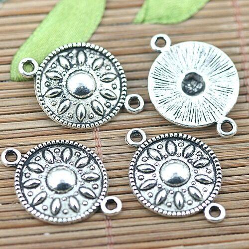 15pcs Tibetan Silver Color chapeau design en forme de connecteur H1315