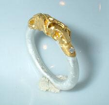 Ring , Silber 999 und Gold 750, Diamant,  Flamere-Design by Dieter Fischer