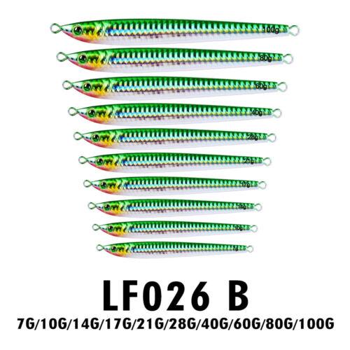 5pc Jigging Lead Fish 7-100G//6-14.5CM Metal Fishing Lure 5 Colors Jig Hard Baits