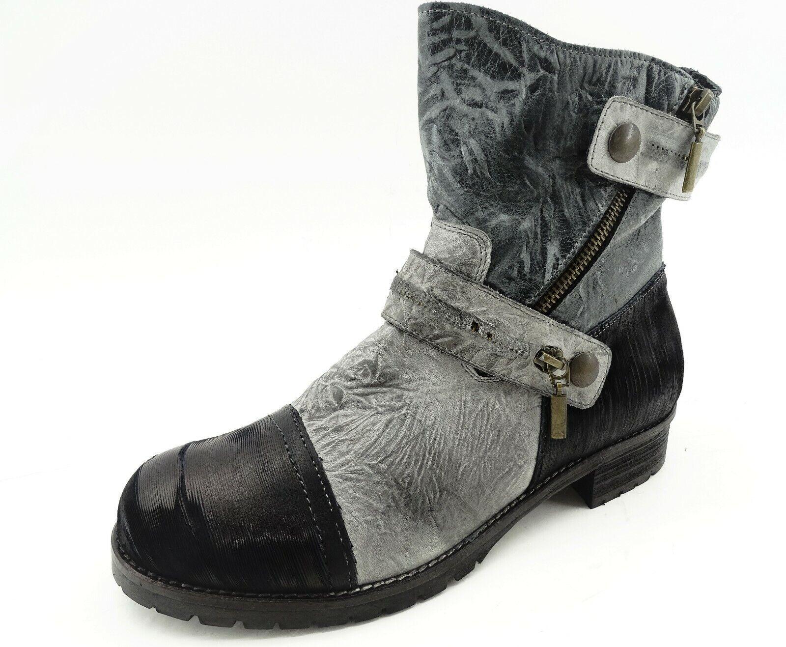 Galapagos schuhe schwarz Damen Used-Look Stiefel Stiefel Stiefeletten Leder Gr 39