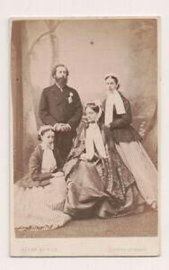 Vintage-CDV-James-Hamilton-1st-Duke-of-Abercorn-Wife-Lady-Louisa-Russell-amp-Kids