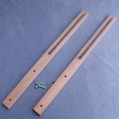 Slotted /& Pre-Drilled Good Quality 2 x Hardwood Headboard Legs Struts Screws
