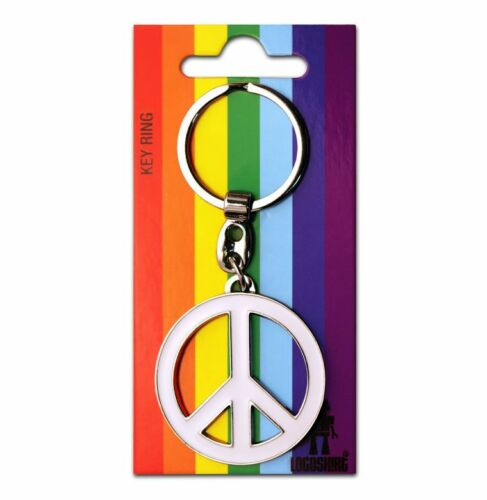 Peace Schlüsselanhänger LOGOSHIRT Keyring Metall CND Friedenszeichen