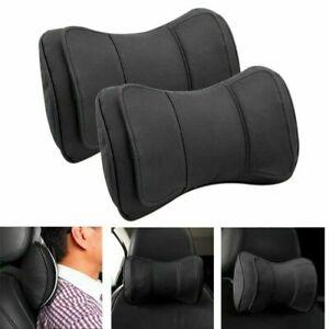 Auto-echtes-Leder-Dual-Layer-Nackenstuetze-Kissen-Kopfstuetze-Sitzmatte-Sitzkissen