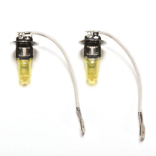 2x goldenes gelbes Auto-Licht 12V H3 ZPheinwerfer-weiße Nebel-Halogenbirne 4H