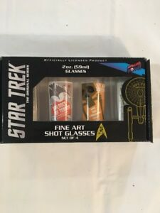 Star-Trek-The-Original-Series-Fine-Art-Shot-Glasses-No-2-Set-of-4-Bif-Bang-Pow