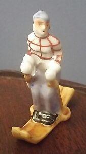 Vintage-3-034-SKIER-figurine-Japan-2-5-034-Long-x-3-034-Tall