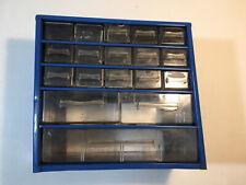 Vintage 18 Drawer Small Parts Storage Metal Organizer Cabinet Bin
