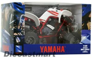 NEWRAY-1-12-YAMAHA-660R-RAPTOR-NEW-DIECAST-MODEL-ATV-WHITE-RED