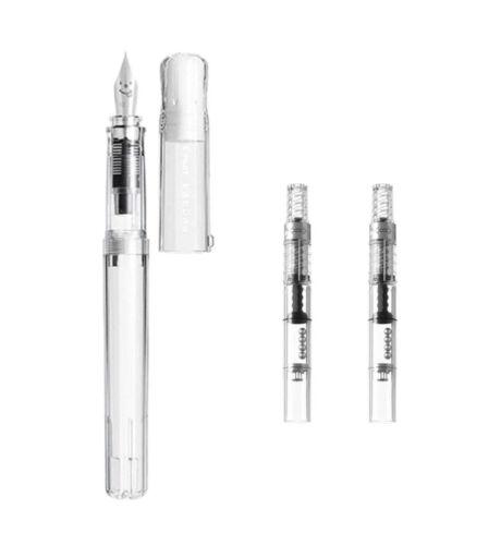 -Clear Transparent +CON-40 2pcs Pilot Kakuno FKA-1SR-EF Fountain Pen Extra Fine