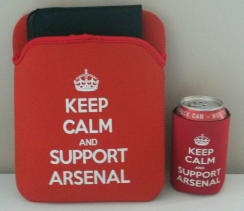 Arsenal Christmas gift set can cooler & tablet sleeve.