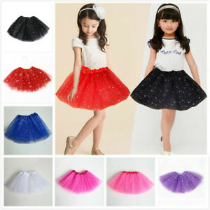 5f4f8d29a7c4 Girls Kid Sequin Stars Tutu Skirt Party Ballet Dance Wear Princess ...