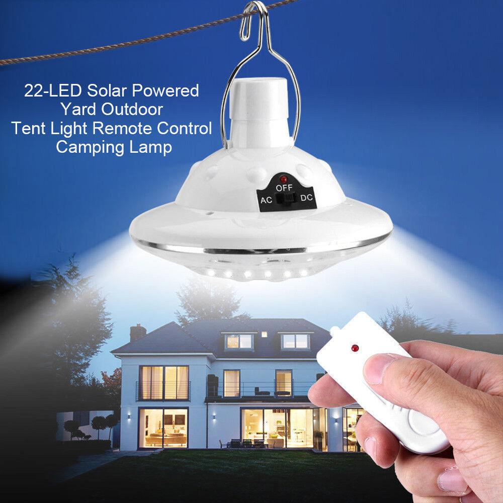 22LED Outdoor/Indoor Solar Lamp Hooking Camp Garden Lighting