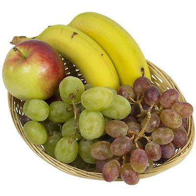 Set Of Small Oval Wicker Basket Storage Gift Bread Fruit Sweet Display Hamper