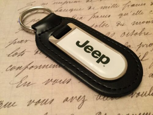 Jeep Echt Leder Schlüsselanhänger Bedruckt Harz Beschichtet Wrangler Cherokee