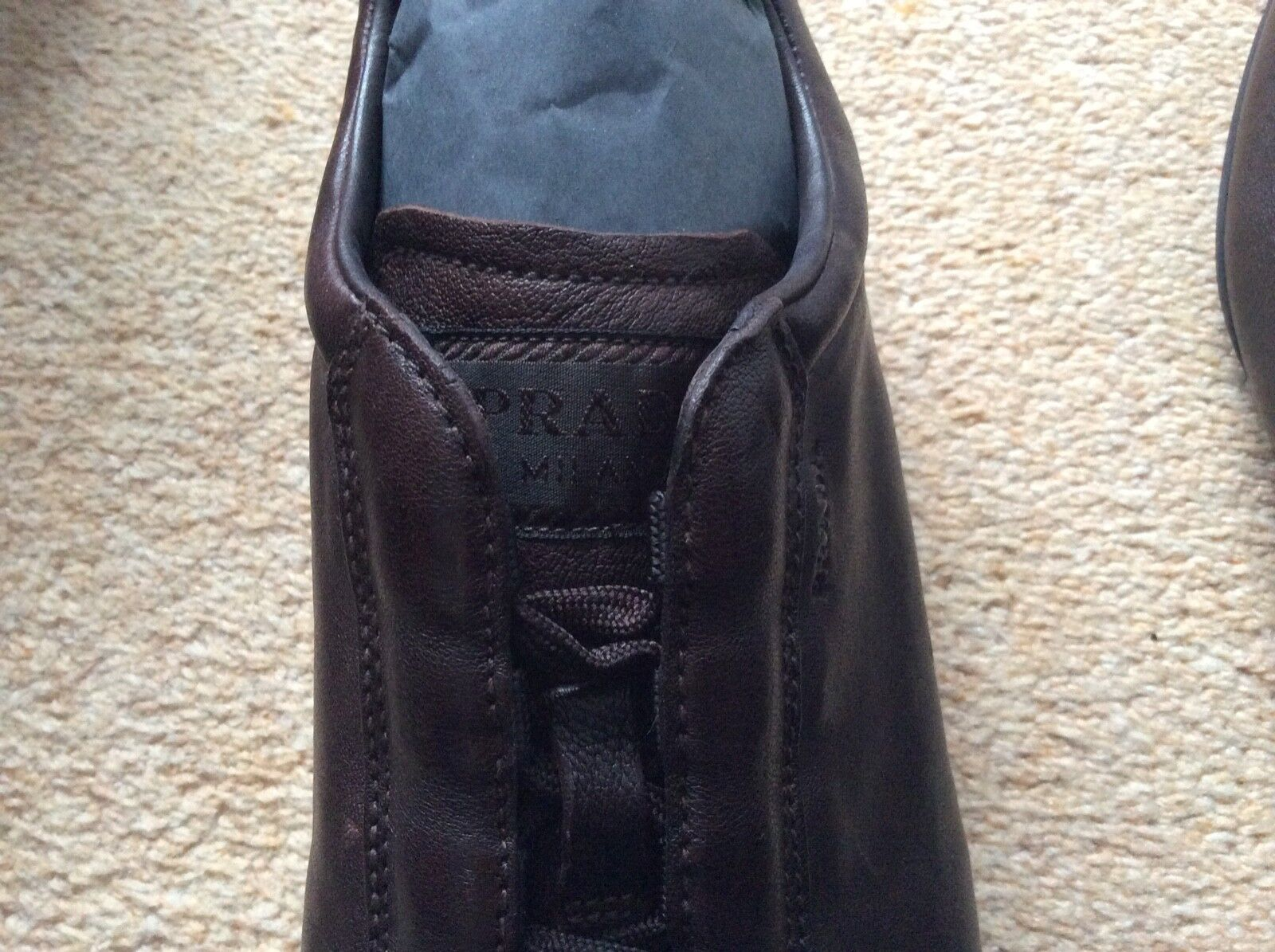 Prada Nappa Aviator Sneakers shoes brown (caffe) size size size 6 2f02a9