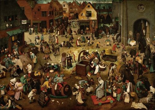 Bruegal the Elder The Fight between Carnival and Lent 863 Art Print//Poster