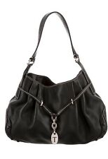 Authentic Tod's Black Leather Hobo Bag Purse Excellent Condition Dust Bag Includ