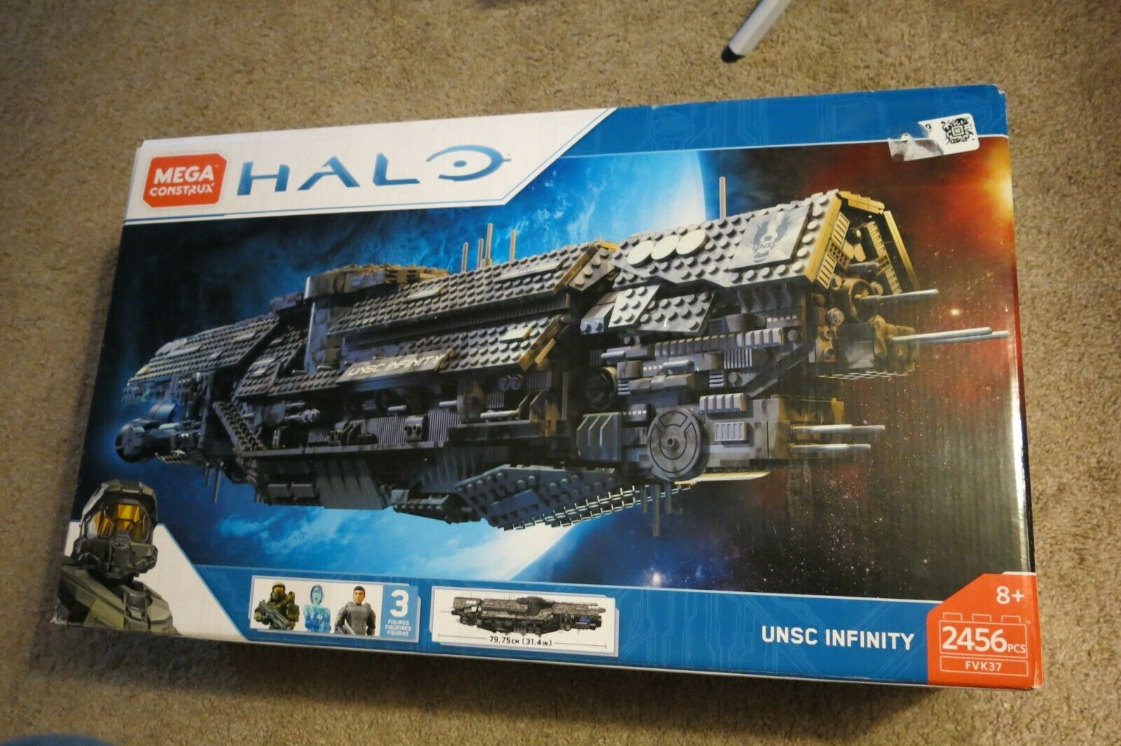 Mega Construx Halo UNSC Infinity FVK37 Building Set CHOP