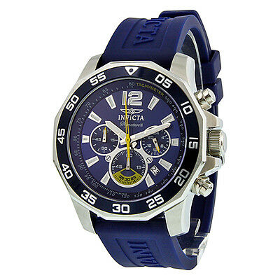 Invicta Signature II Chronograph Nautical Blue Dial Blue Rubber Mens Watch 7431