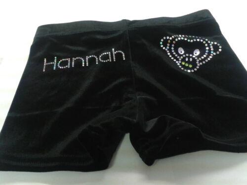 Personalised Gym shorts Black high Quaility Velour all sizes by Selani
