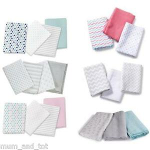 Summer Infant Swaddle Muslin Blankets Feeding Squares Premium 100% Cotton