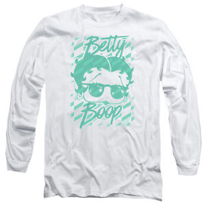 18aa088e0 BETTY BOOP SUMMER SHADES Licensed Men's Long Sleeve Graphic Tee ...