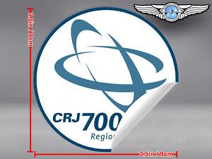 CANADAIR-REGIONAL-JET-CRJ-700-ROUND-LOGO-STICKER-DECAL