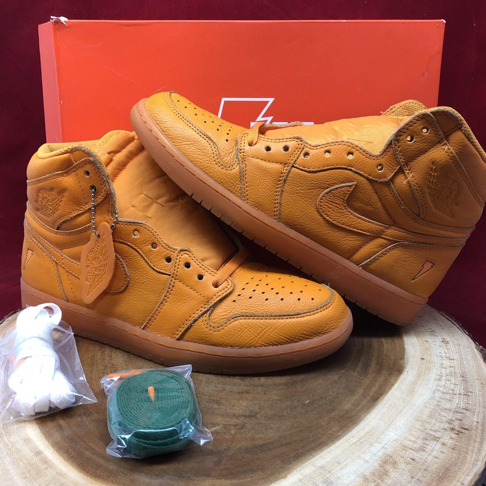 Nike Air Jordan Retro I orange Gatorade Like Mike Size 10 AJ5997 880 Green VI XI