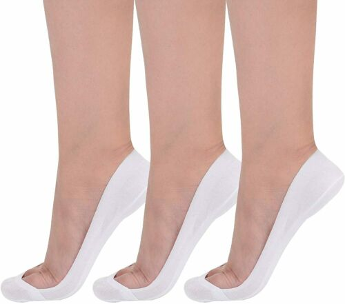 Details about  /Flammi Women/'s TRULY No Show Socks for Flats Non Slip Cotton Ultra Low Cut Liner