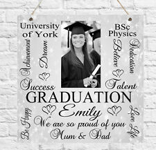 Personalised PHOTO Graduation Typography Plaque University School Gift Present