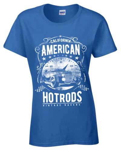 Previamente futuro grande  American Hotrods Para Mujer T-Shirt California Vintage corredores coche  Damas Camiseta De Garaje control-ar.com.ar