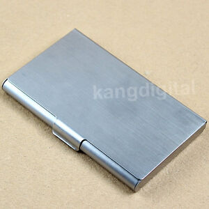 Stainless Steel Pocket Business Name Credit ID Card Case
