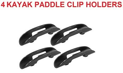 LOT OF 4 KAYAK PADDLE CLIP HOLDER SHORELINE MARINE PROPEL GEAR SLPG92032