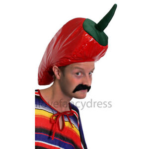 CHILLI-PEPPER-HAT-NOVELTY-MEXICAN-FANCY-DRESS-FUNNY-  sc 1 st  eBay : funny mexican halloween costumes  - Germanpascual.Com