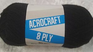 Acrocraft-8-Ply-Knitting-Yarn-1010-Black-100g-Acrylic-200-metres