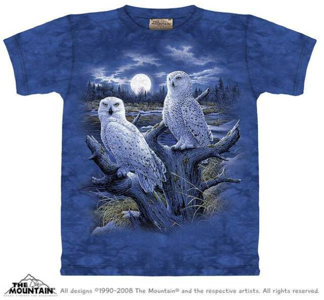 b87d41875 Buy Snowy Owls Birds Shirt Adult Unisex The Mountain Large 1011342 ...