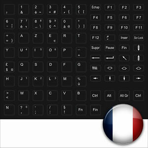 KEYSTICK-STICKERS FRANCE SCHWARZ FRENCH KEYBOARD BLACK KEYSTICK FRANKREICH STICK