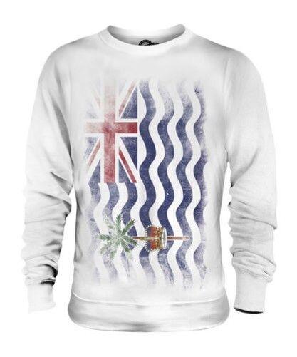 Britisch Indian Ozean Territorium Verblichen Flag Unisex Pullover Top