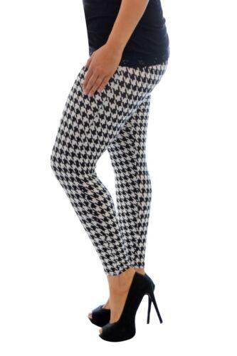 Womens Leggings Girls Dogtooth Print Full Length Print Size 8-14