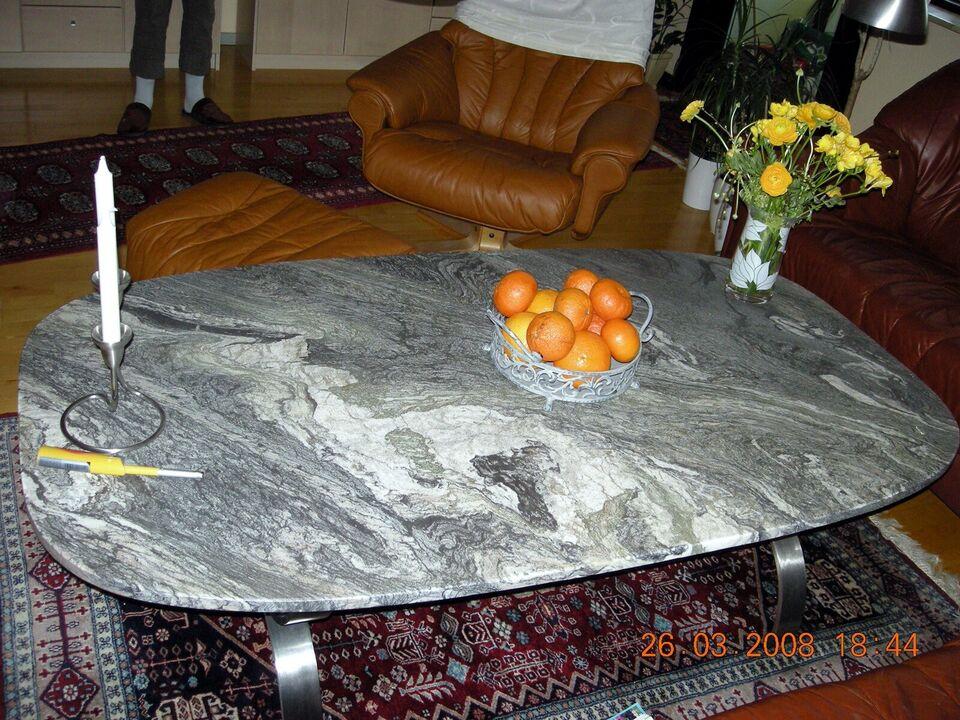 Sofabord, marmor, b: 90 l: 180