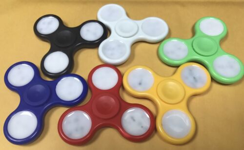 LOT OF 100 X SWITCH CONTROL 3 MODES LED SPINNER FIDGETS ,CHRISTMAS GIFTS