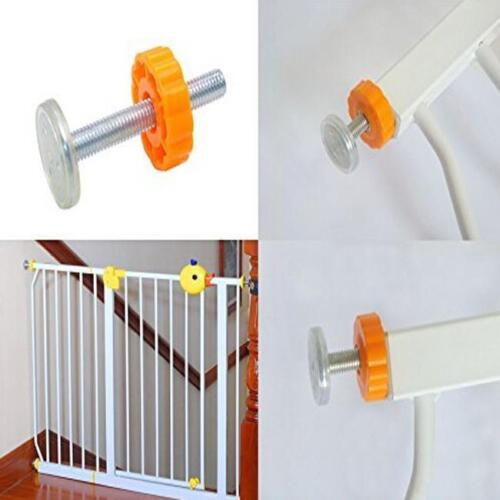 4Pcs Metal Safety Gate Toddlers Pressure Mounted Gate Rod Screw Bolts Kit IT