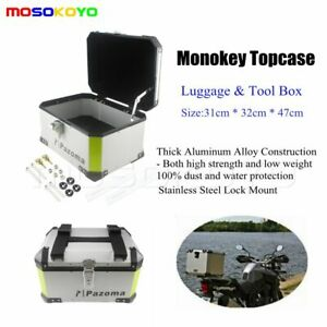 Motorcycle-Outback-Monokey-Top-Box-AlumInium-Rear-Storage-Case-Luggage-Universal