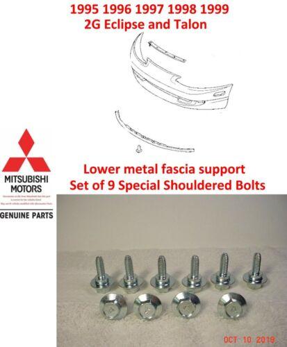 1995 1999 Eclipse Talon Lower Fascia Metal Support Bolt set of 9 NEW OEM